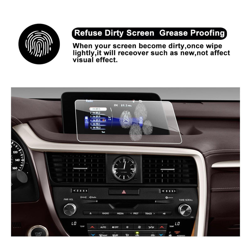 2016 2017 Lexus RX 350 8-Inch Touch Screen Car Display Navigation Screen Protector, HD Clear TEMPERED GLASS Car In-Dash Screen Protective Film
