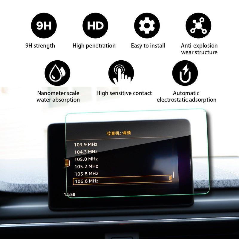 2017 2018 Audi Allroad MMI Navigation Display GPS Screen Film Protector(7-inch/8.3-inch) - LFOTPP
