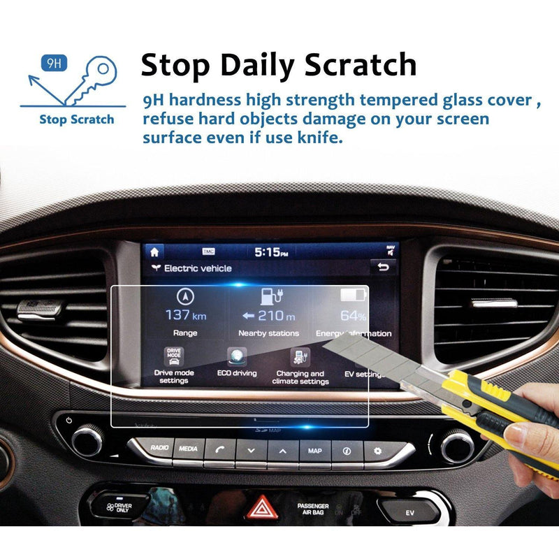 2017-2019 Hyundai Ioniq 8-inch Display Screen Protector - LFOTPP