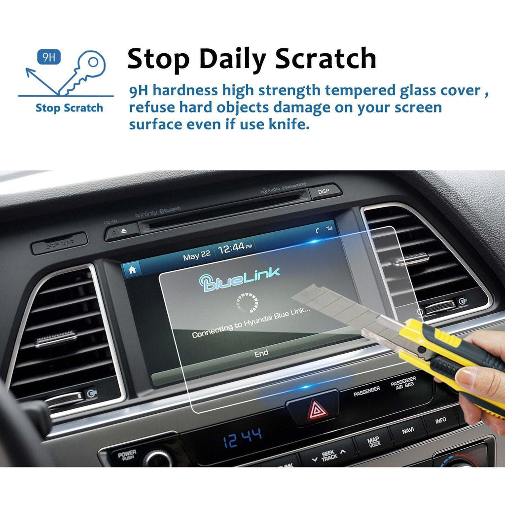 2017-2019 Hyundai Sonata Blue Link 8-inch Display Screen Protector - LFOTPP