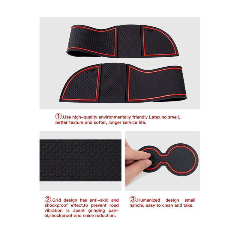 2017-2019 Skoda Kodiaq Auto Groove Anti-slip Pad/Door Styling Mats/Skoda Kodiaq Modification - LFOTPP