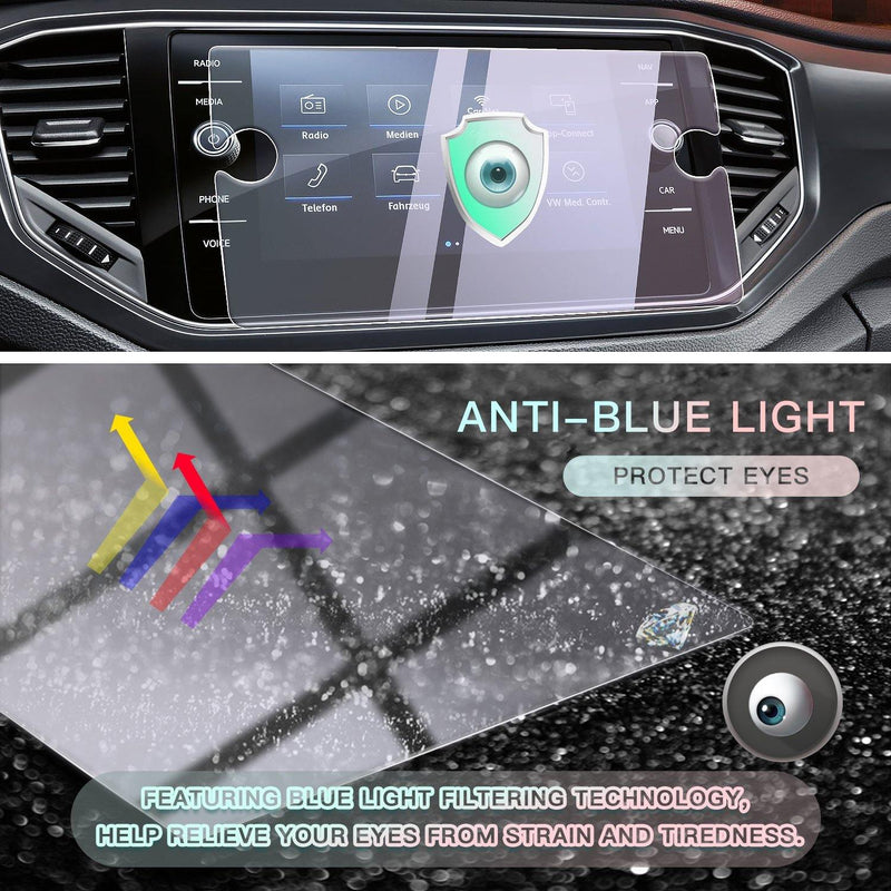 2017-2019 Volkswagen T-Roc 8-inch Display Screen Protector(Anti-blue light)
