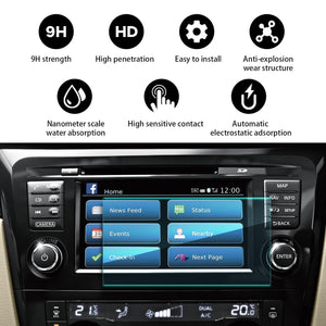2017-2020 Nissan Rogue Sport X-Trial Screen Navigation Screen Protector Cover 7-Inch