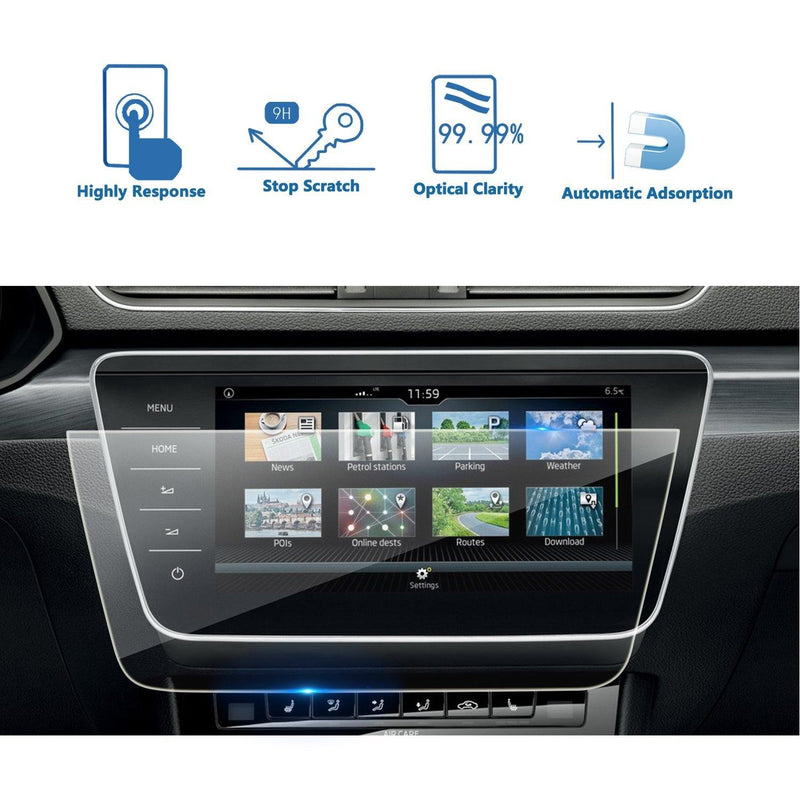 2017-2020 Skoda Superb Bolero Infotainment System Screen Protector 9.2″ Display | Skoda Superb Modification - LFOTPP