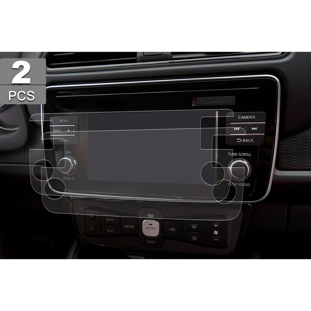2018-2019 Nissan Leaf (ZE1)NissanConnect 7-Inch Navigation PET Plastic Film