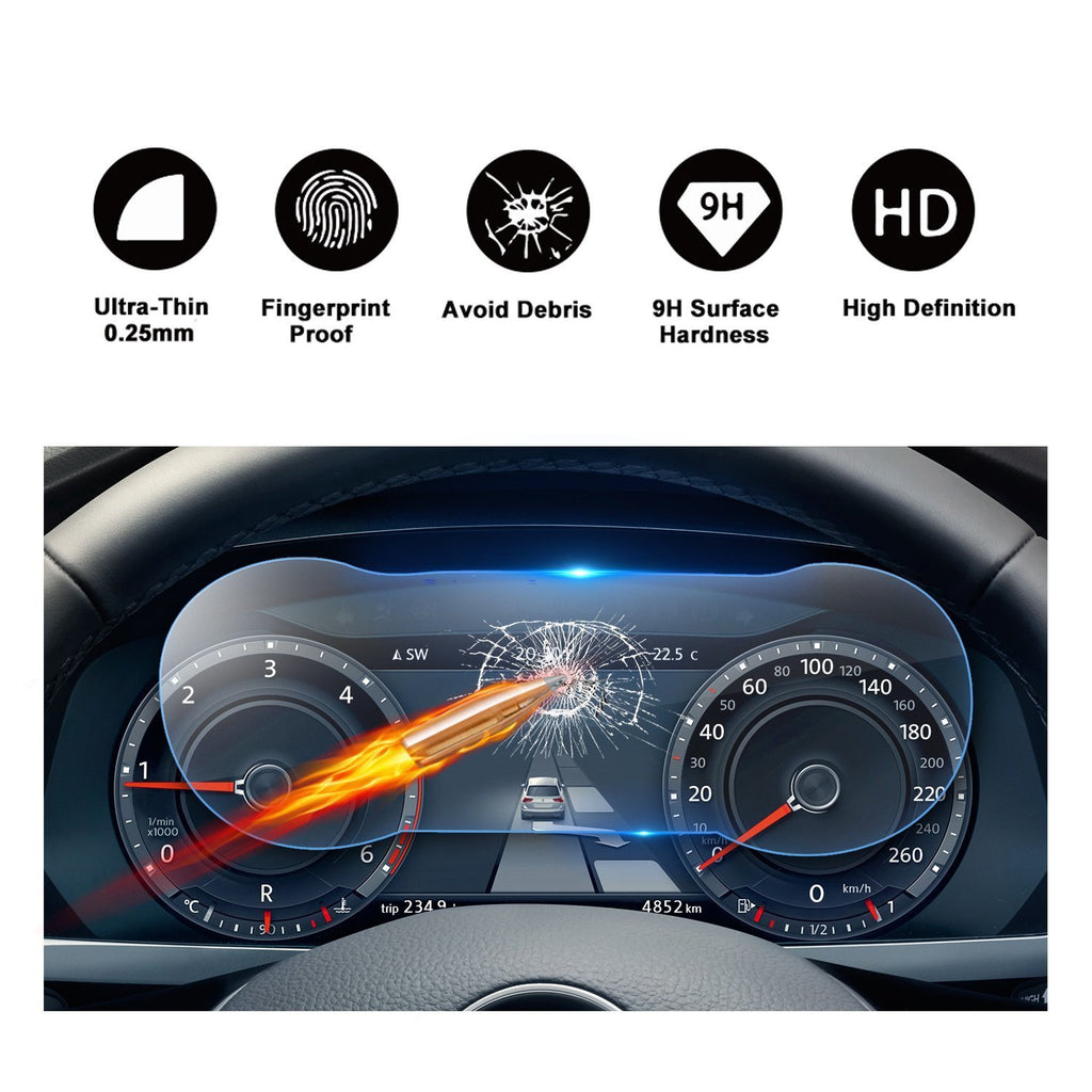 2018-2020 Tiguan Discover 12.3-Inch Display Dashboard Screen Protector