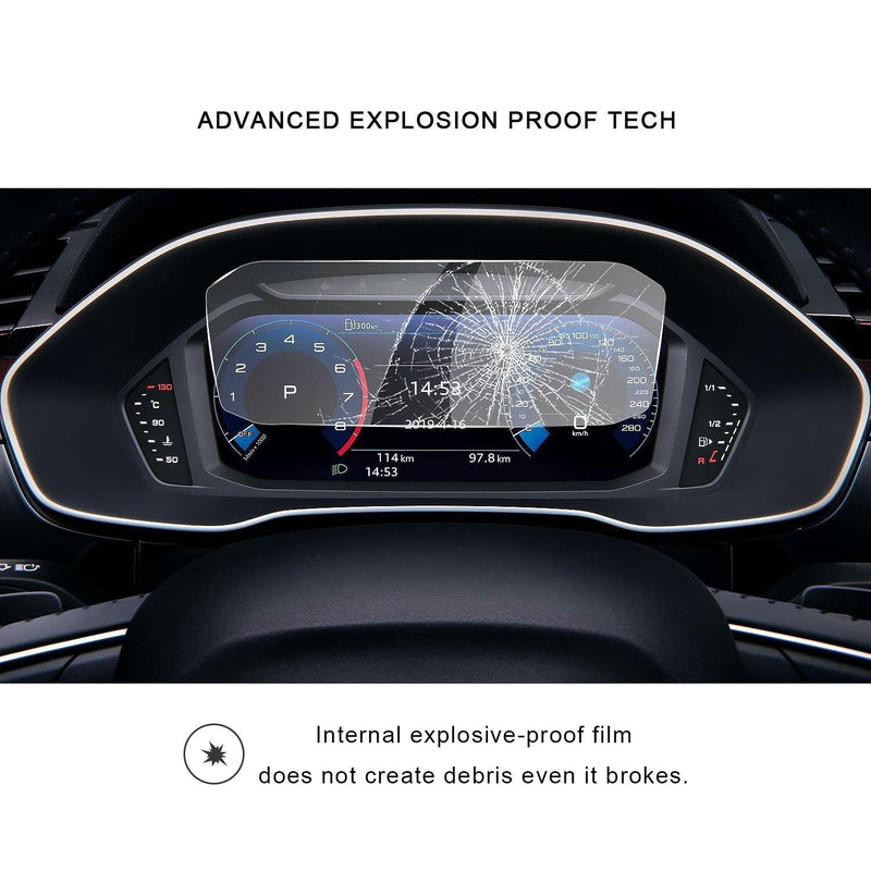 2019-2020 Audi Q3 Instrument Dashboard Screen Protector Cover 10.25-Inch - LFOTPP