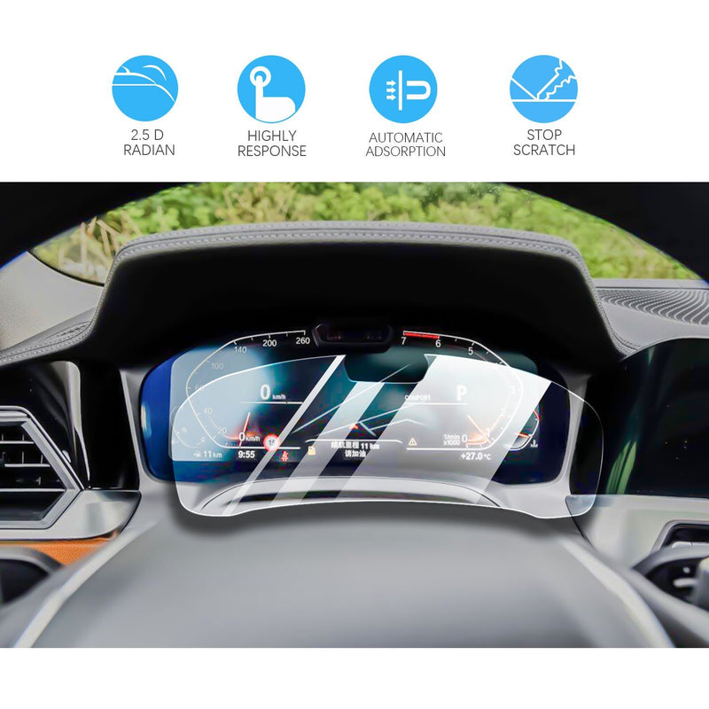 2019-2020 BMW 3 Series G20 Digital Dashboard Screen Protector | Open a Hole(12.3-Inch)