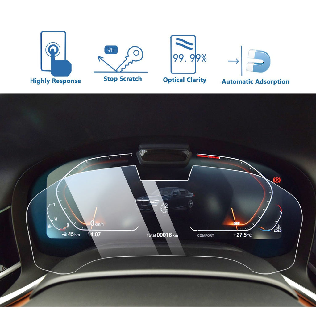 2019-2020 BMW 7 Series Dashboard Screen Protector-Bring Camera-BMW Interior Decoration - LFOTPP
