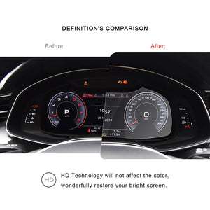 2019 Audi A6 / Audi A7 Instrumen Tempered Glass Protector