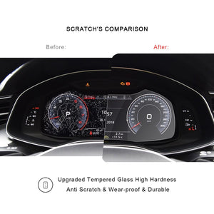 2019 Audi A6 / Audi A7 Instrument Protective Glass Tempered
