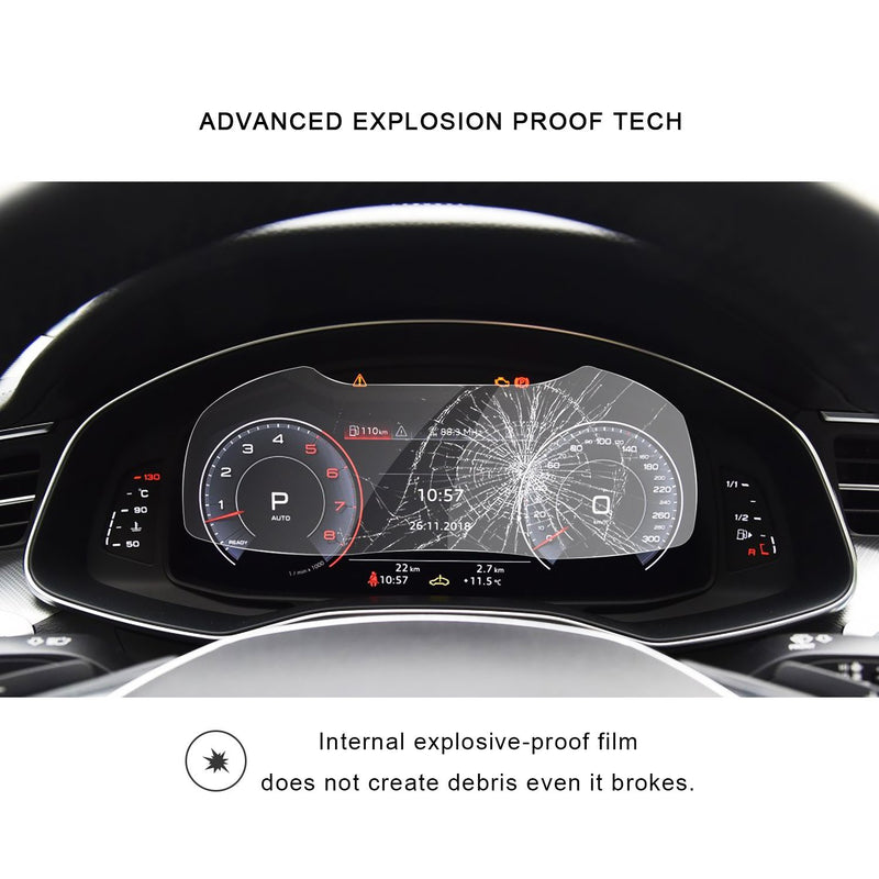 2019 Audi A6/Audi A7 Instrument Tempered Glass Protector - LFOTPP