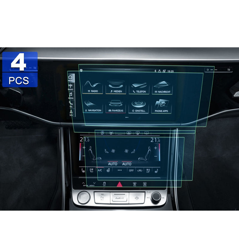 2019 Audi A8 Navigation Screen PET Plastic Film [4 pieces]