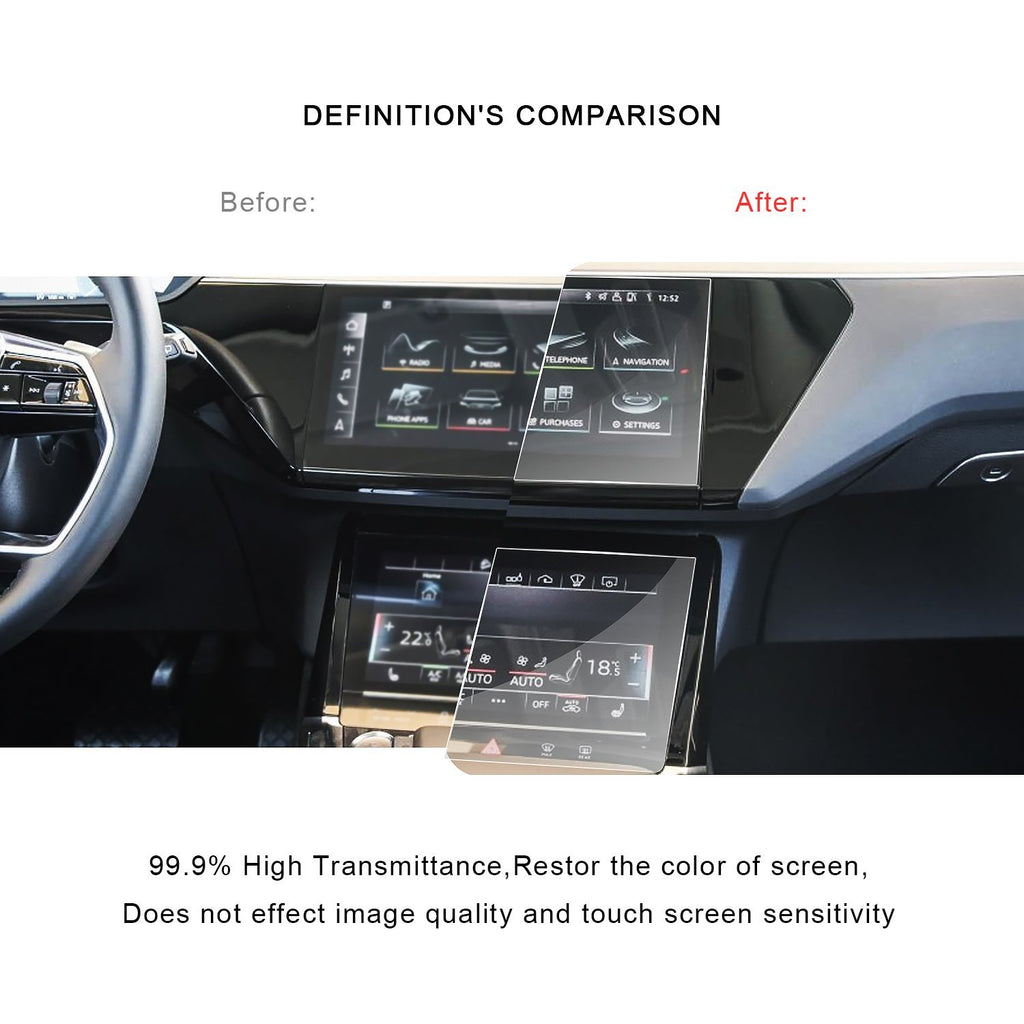 2019 Audi E-Tron Navigation Display GPS PET (Plastic Film )[5 pieces]