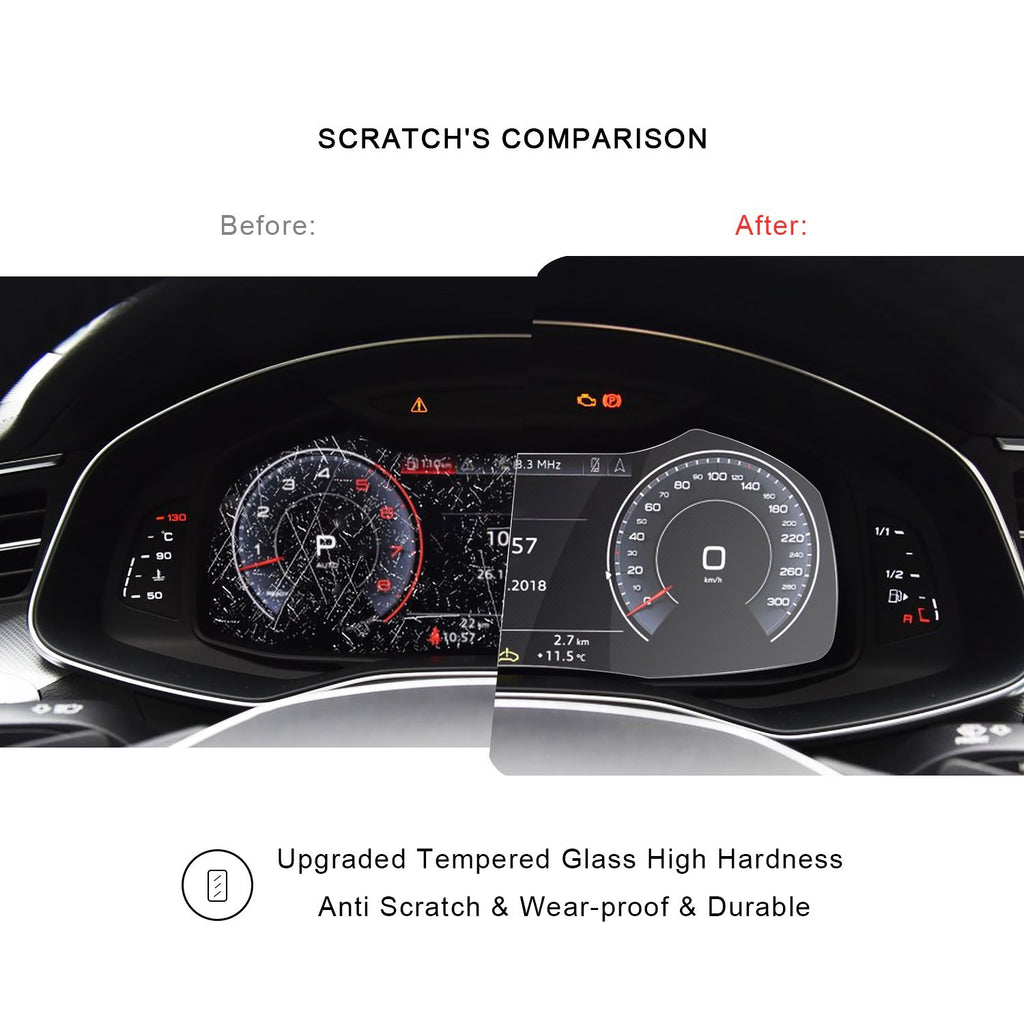 2019 Audi Q8 Dashboard Screen Protector - LFOTPP