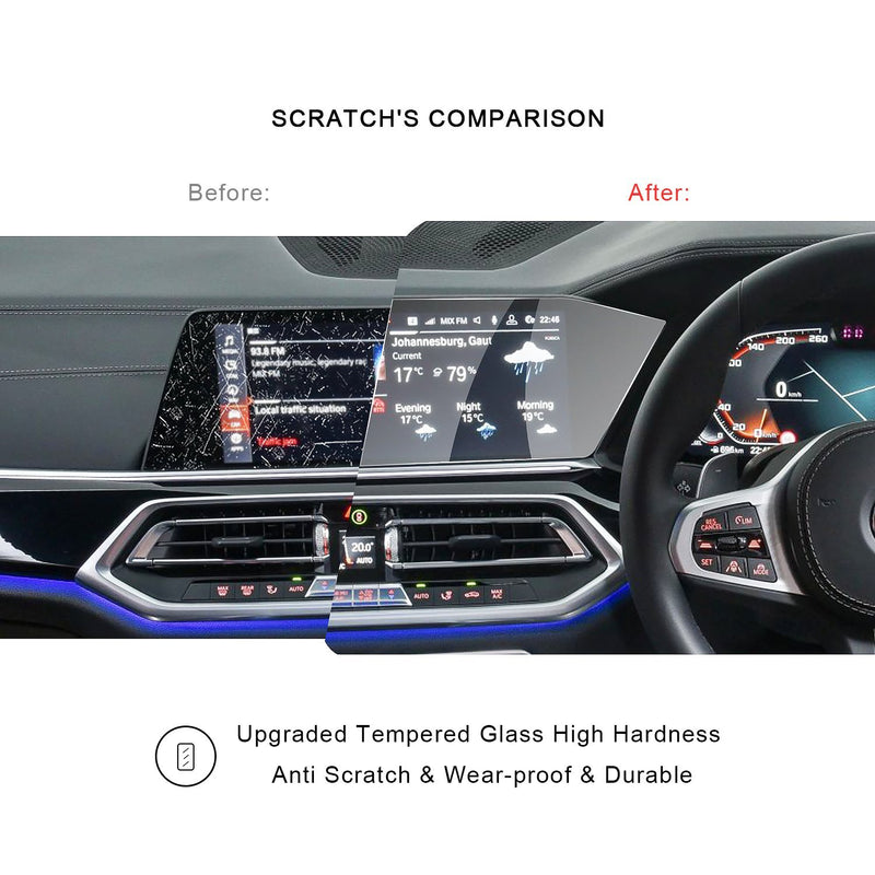 2019 BMW X5 GO5 12.3-Inch Instrument Screen Protector(Right-hand Drive)