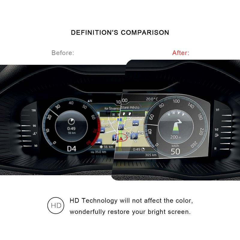 2019 Skoda Kodiaq/Kamiq/Karoq/Superb Dashboard Screen Protector 10.25″ Display | Skoda Modification - LFOTPP