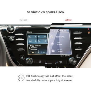2019 Toyota Camry Screen Protector PET Plastic FIlm 8-Inch