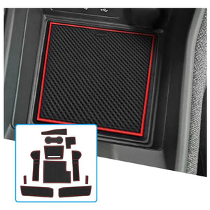 R RUIYA Car Door Slot Mat 2020-2021 Renault Clio Cup Pads Center Console Liner Accessories Anti Slip [11PCS, Red] -lfotpp-auto-parts.myshopify.com