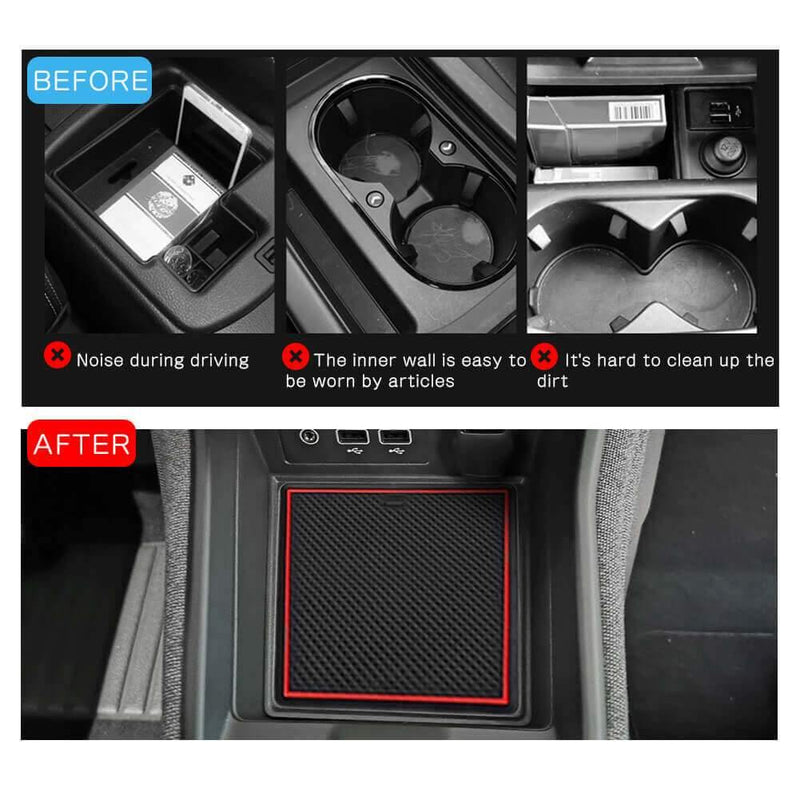 R RUIYA Car Slot Mats 2020-2021 Renault Zoe Cup Holder Mats, Cup Door Center Console Liner Interior Accessories Inserts Coaster Pad Anti Slip [16 pieces Red]-lfotpp-auto-parts.myshopify.com