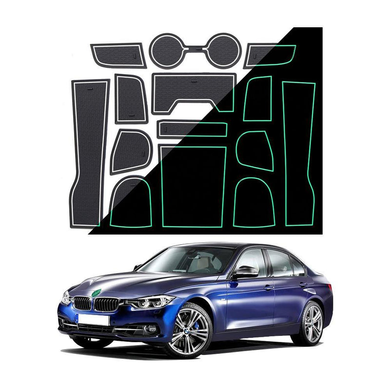 2020 BMW 3 Series Center Console Groove Liners Mats - LFOTPP