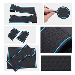 ລົດຕູ້ BMW 2020 Series Center Console Groove Liners Mats - LFOTPP ປີ 3