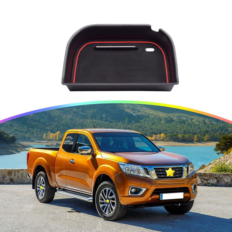 SKTU Car Center Console storage 2016-2021 Nissan Navara D23 NP300 Central armrest modified storage box car storage compartment [red]-lfotpp-auto-parts.myshopify.com