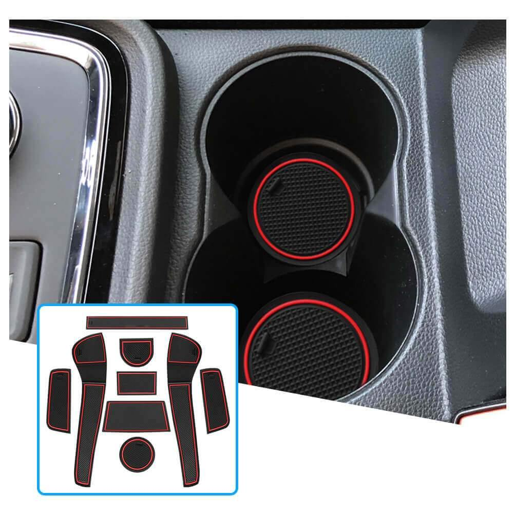 R RUIYA Car Slot Mat 2013-2021 SEAT Mii/Skoda Citigo/Volkswagen Up gate slot pad Cup Coaster Cushion [9 pcs]-lfotpp-auto-parts.myshopify.com