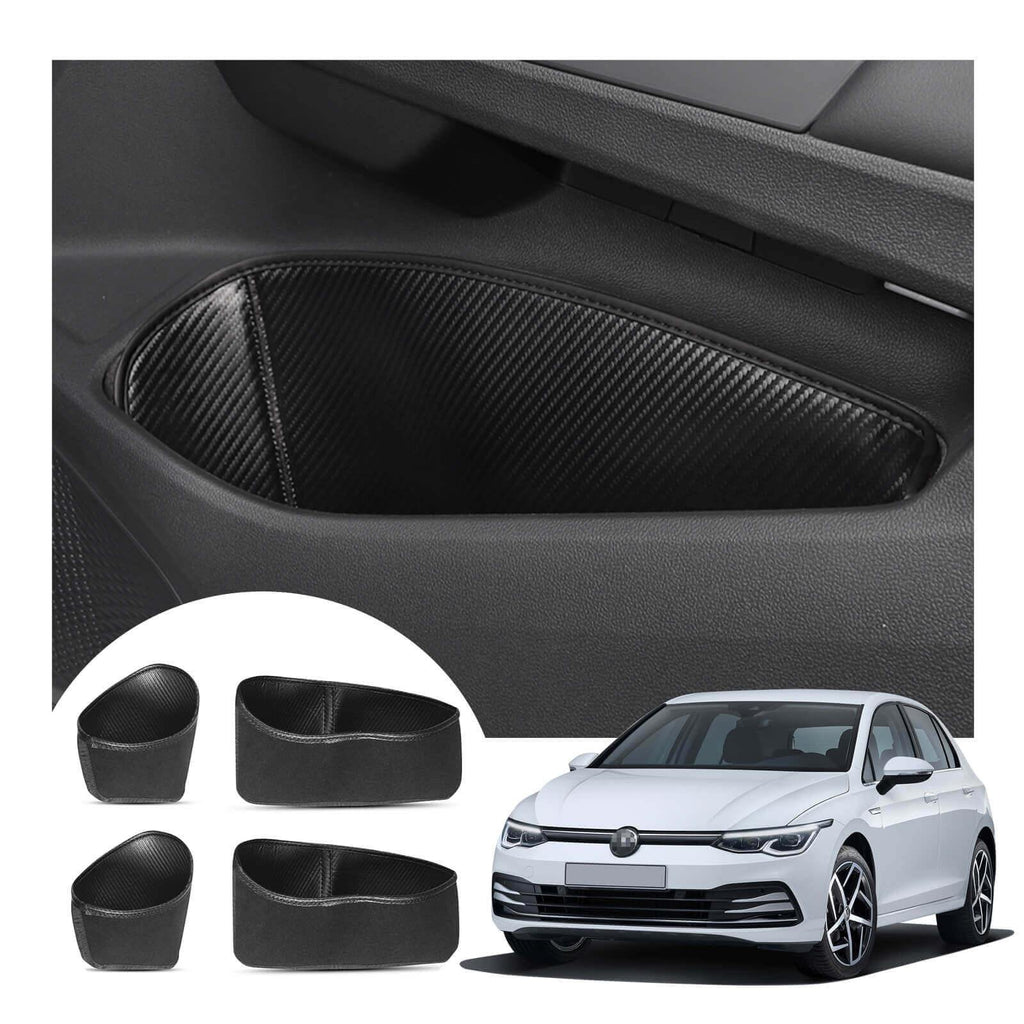 R RUIYA car door storage box mat 2020-2021 Volkswagen Golf Mk8 door groove pad [Carbon solder-textured, 4 pcs, front and rear doors]-lfotpp-auto-parts.myshopify.com