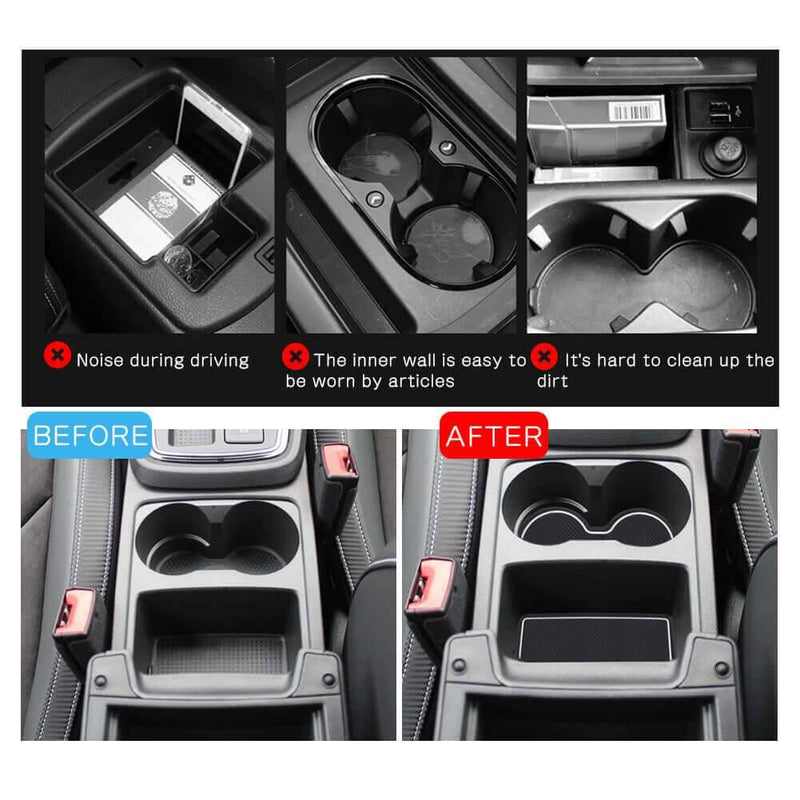 R RUIYA car slot pad 2017-2021 SEAT Leon Cupra 5F Travel Edition 2-car version Cup Mat gate cushion [14 pcs]-lfotpp-auto-parts.myshopify.com