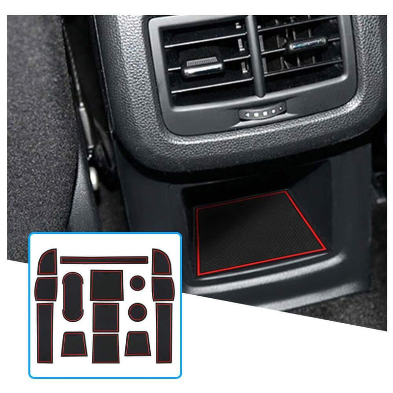 R RUIYA door groove pad 2017-2021 SEAT Ateca SUV cup holder mats slot mat [11 pcs, red, Support custom colors]-lfotpp-auto-parts.myshopify.com