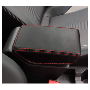 SHAOHAO Cover Armrest Car 2017-2021 SEAT Ibiza Typ 6F / SEAT Arona SUV konsol arm constol cover [2 bandage, Black-skinline redline] -lfotpp-auto-parts.myshopify.com