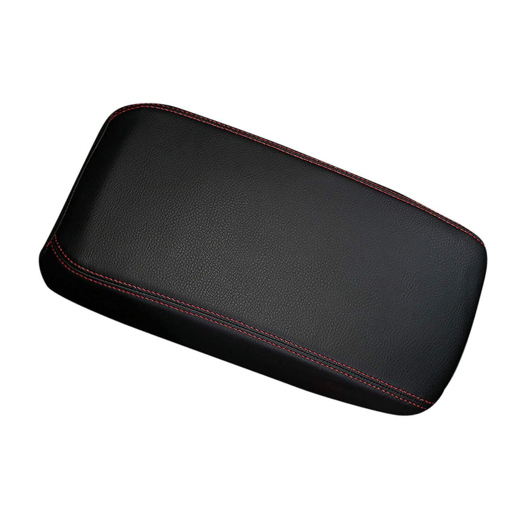 SHAOHAO Car Armrest Cover for 2019-2021 Audi Q3 F3 Arm Rest Lid Pad Console Protection [Black-Leather redline 2 Elastic bandage]-lfotpp-auto-parts.myshopify.com