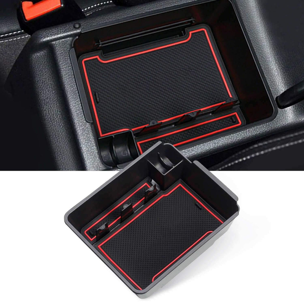SKTU Car Storage Box 2007-2015 VW Tiguan I (Type 5N) Armrest Box Insert Tray [red, without logo]-lfotpp-auto-parts.myshopify.com