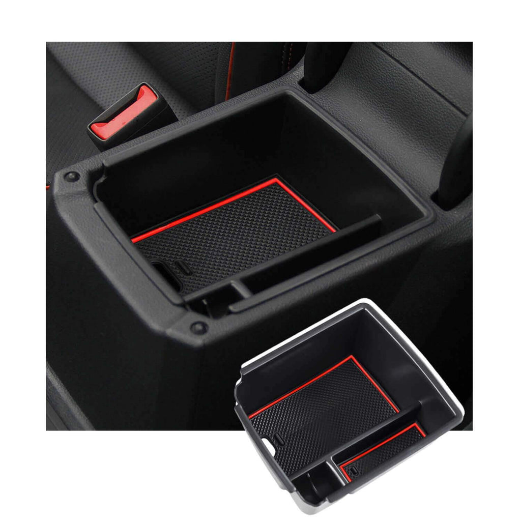 SKTU Car Storage Box 2016-2021 Volkswagen Tiguan 2nd generation standard-wheelbase center console storage box [red]-lfotpp-auto-parts.myshopify.com