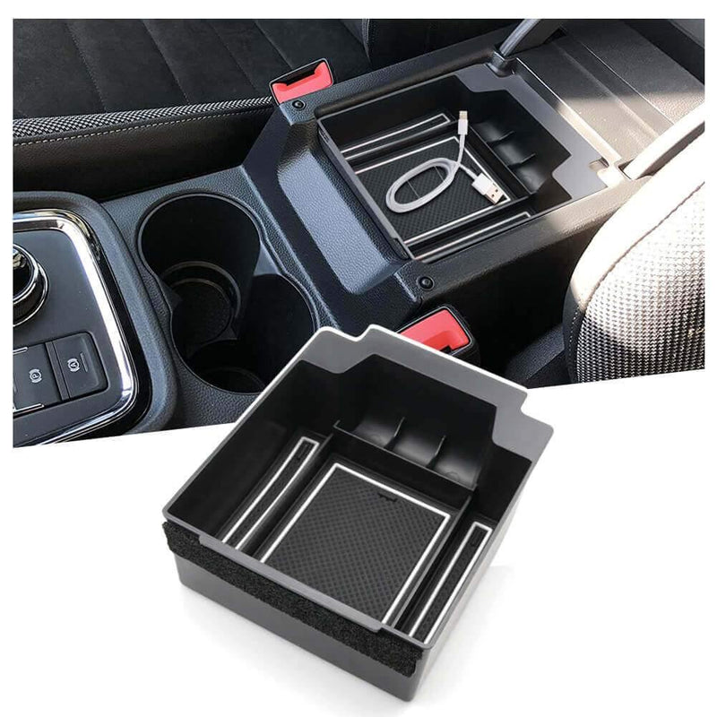 SKTU Car Storage Box 2017-2019 SEAT Ateca Center Console Accessory Organizer [blue, white, red]-lfotpp-auto-parts.myshopify.com