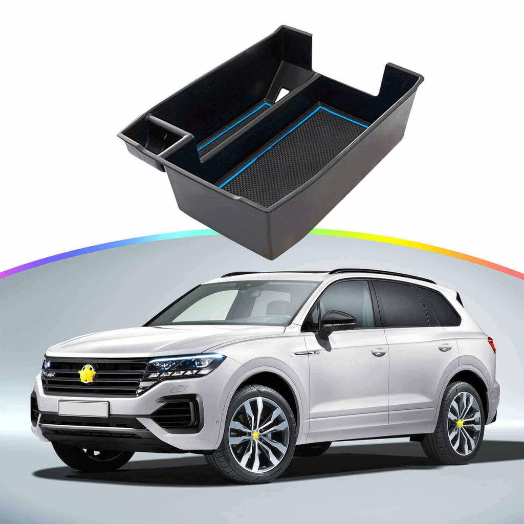 SKTU Car Storage Box 2019-2021 VW Touareg III (Typ CR) SUV Console Accessory Organizer [without logo]-lfotpp-auto-parts.myshopify.com