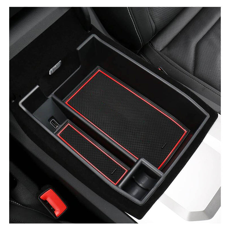SKTU Center Console Accessory Organizer 2018-2021 VW Touareg 3rd Generation Car Storage Box [red, without logo]-lfotpp-auto-parts.myshopify.com