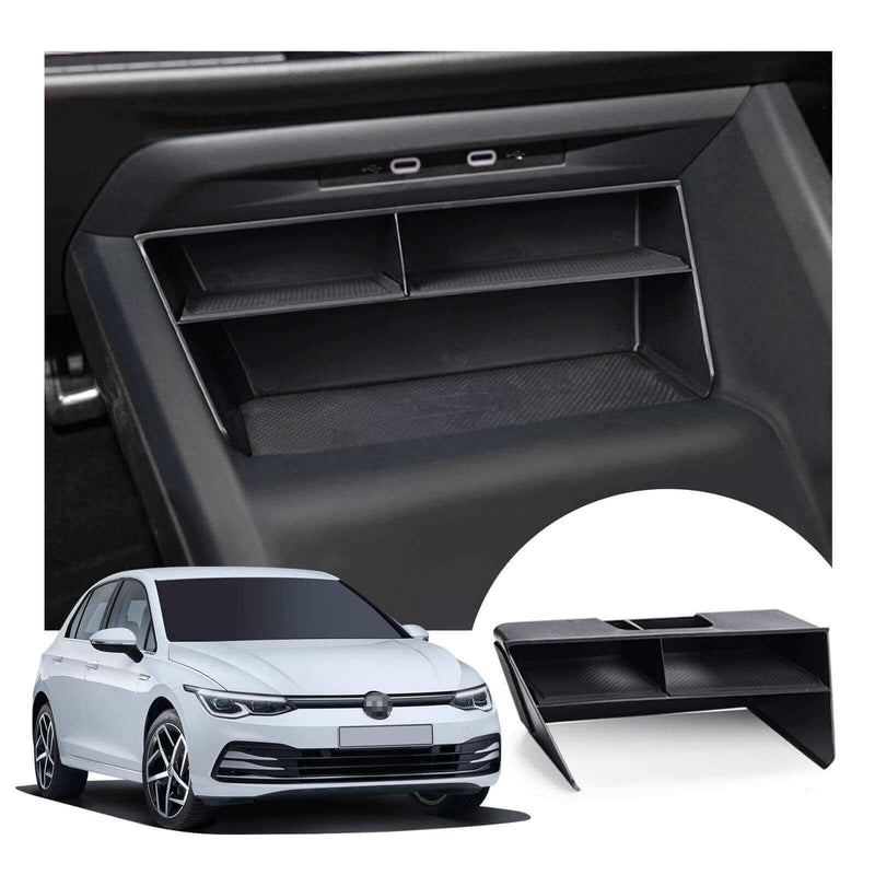 SKTU Central Control Storage Box 2020-2021 Volkswagen Golf Mk8 Center Console Box Cover Cushion[Black, left diver]-lfotpp-auto-parts.myshopify.com