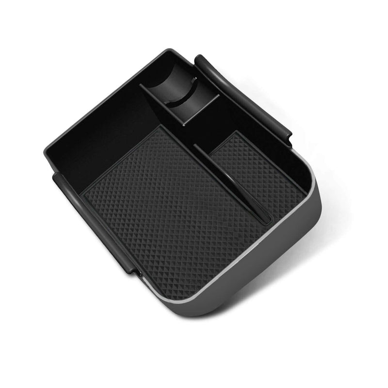 SKTU car parts storage box 2018-2021 Volkswagen POLO MK6 center console storage Insert Tray [black, without logo]-lfotpp-auto-parts.myshopify.com
