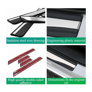 Gabhálais do Honda Accord Door-Sill-Protector-Trim-for-Accord-Clarity-Insight-Passport-Pilot Accessories Doras Iontrála Doras Cruach Dhosmálta - LFOTPP