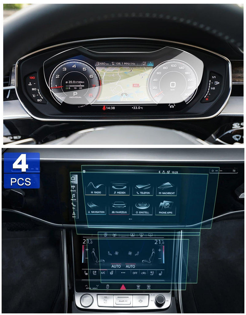Audi A8 2019 Screen Protector Dashboard and Navigation Screen Protector - LFOTPP