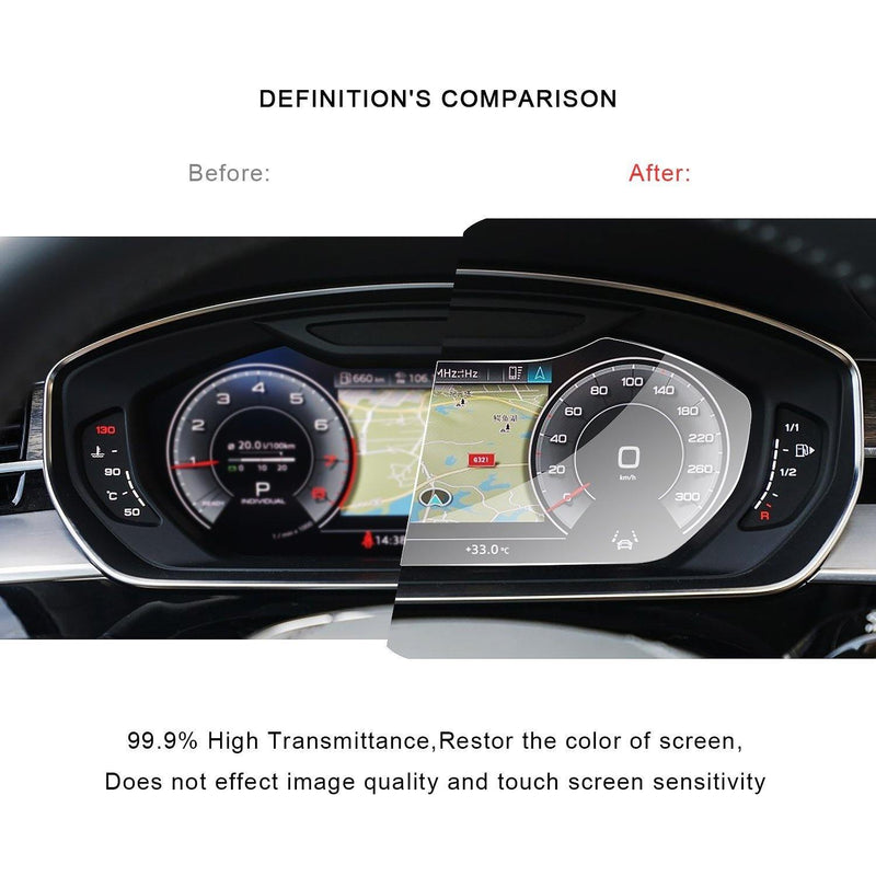 Audi A8 2019 Screen Protector Dashboard PET Plastic Film - LFOTPP
