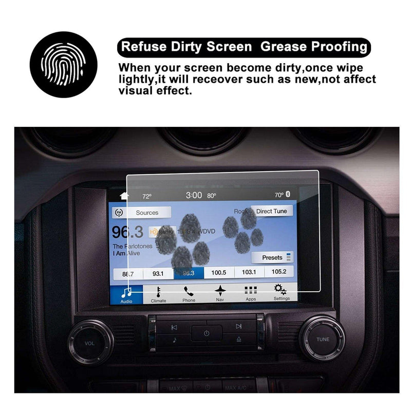 Ford Mustang Screen Protector | 2014-2018 Ford Mustang GT350 COUPE/HATCHBACK Sync2 Sync3 AppLink 8-Inch - LFOTPP