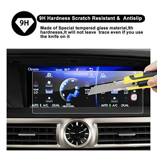 Lexus GS 200t 350 450H GS F LS 460 500 600 IS 200t 300 350 12.3-Inches Car Navigation Protective Film, Clear Tempered Glass HD and Protect your Eyes - LFOTPP