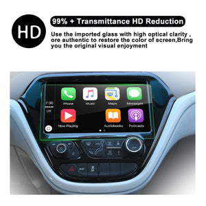 Tempered Glass protector Compatible for 2017 Bolt EV 10.2-Inch Car Navigation Protective Film - LFOTPP