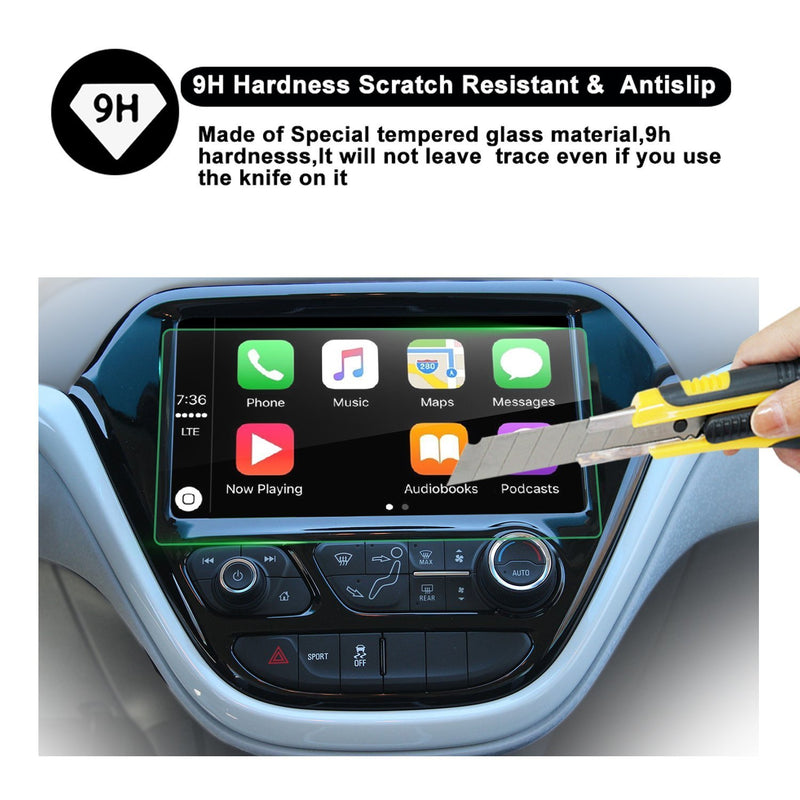 Tempered Glass protector Compatible for 2017 Bolt EV 10.2-Inch Car Navigation Protective Film