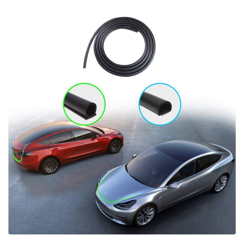 Tesla Model 3 Door Seal Soundproof Rubber Noise Reduction and Vibration Reduction - LFOTPP