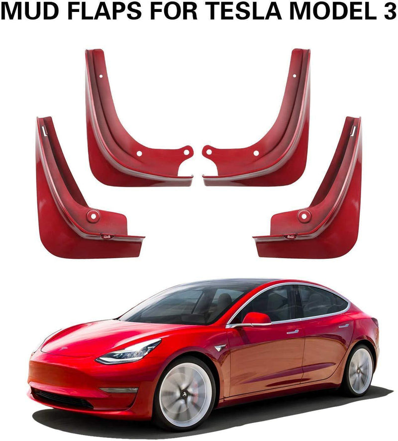 Tesla Model 3 Splash Guards Mudflap Fender Mudguards - LFOTPP
