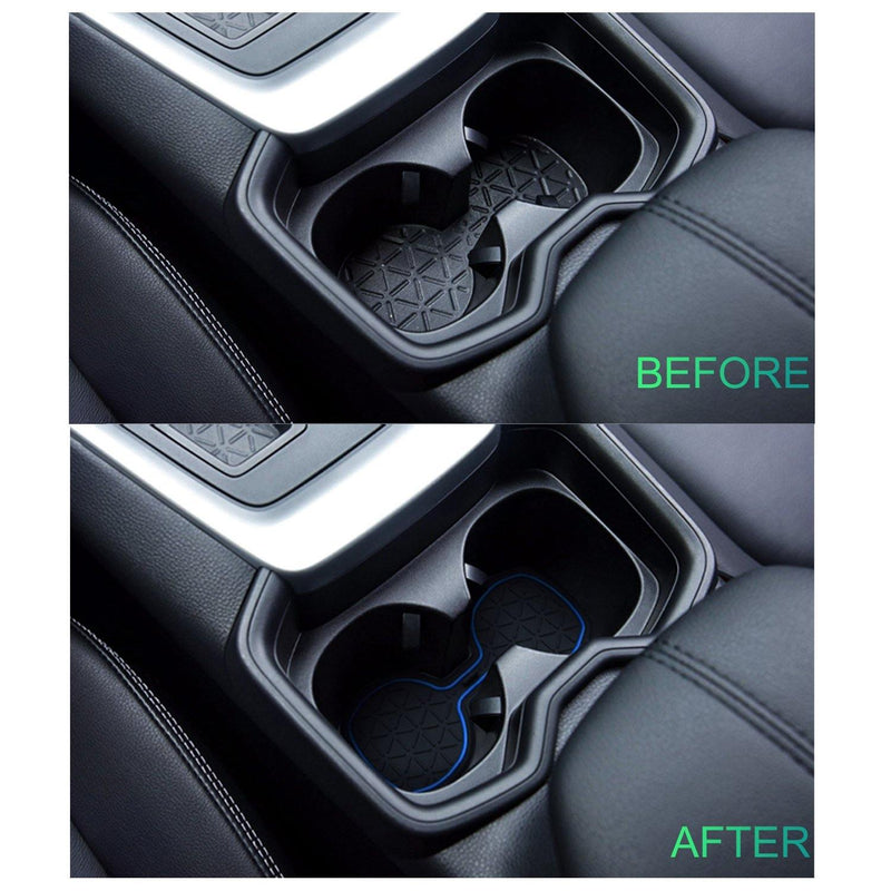 Toyota RAV4 Interior Accessories | RAV4 Rubber Slot Pads | RAV4 Premium Groove Liners for Cup Holder Console and Door | RAV4 Rubber Slot Pads 2019-2020 - LFOTPP